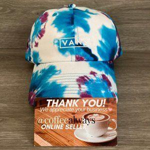 Vans Tie Dye Blue Purple White Curved Bill Hat NWT